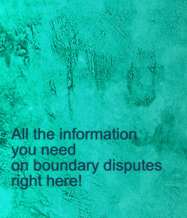 All the information you need on boundary disputes right here!